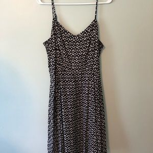 Black and White Patterned Dress from Old Navy
